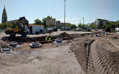 Guyenne Environnement fournit l'éco-chantier ZAC Bastide Niels en GNT.